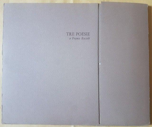 cover TRE POESIE A FRANCO RUSSOLI