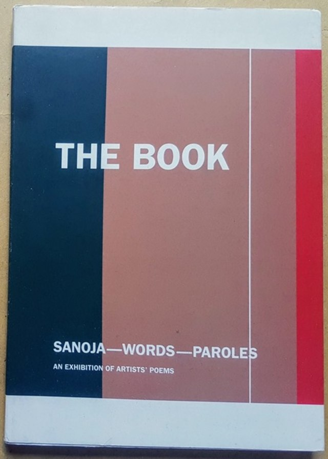 cover The book: sanoja-words-paroles, an exhibition of artists' poems